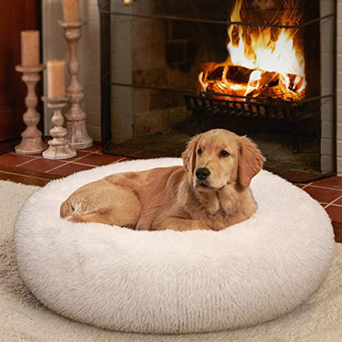 Fluffy Round Orthopedic Bed for Small Dogs and Cats