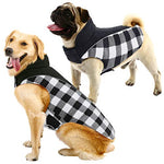 Dog Plaid Jacket Reflective and Waterproof