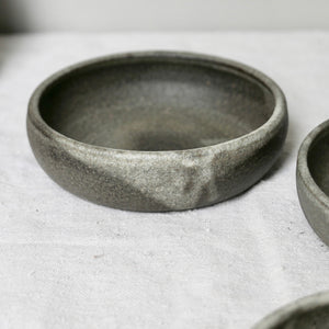 graphite large shallow bowl