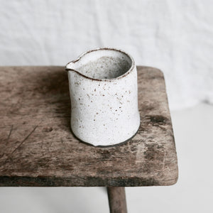 speckled white simple jug
