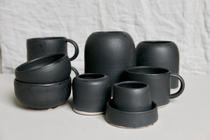 small black espresso mug