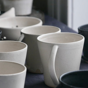 simple white slim mug