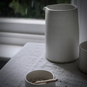 simple large white milk jug