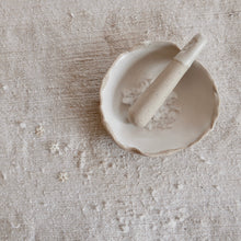 Load image into Gallery viewer, simple white salt pestle & mortar dish