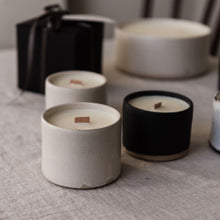 Load image into Gallery viewer, limited edition scented candle in matte white ceramic tumbler