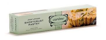 CAREME PASTRY - SOUR CREAM SHORTCRUST PASTRY SHEETS