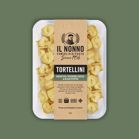IL NONNO - GREEN PEA, PECORINO CHEESE & BLACK PEPPER TORTELLINI 500G