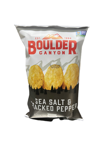 BOULDER - SEA SALT & CRACKED PEPPER POTATO CHIPS