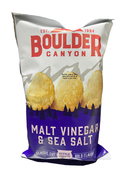 BOULDER - MALT VINEGAR & SEA SALT POTATO CHIPS