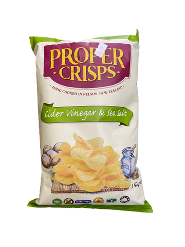 PROPER CRISPS - CIDER VINEGAR & SEA SALT