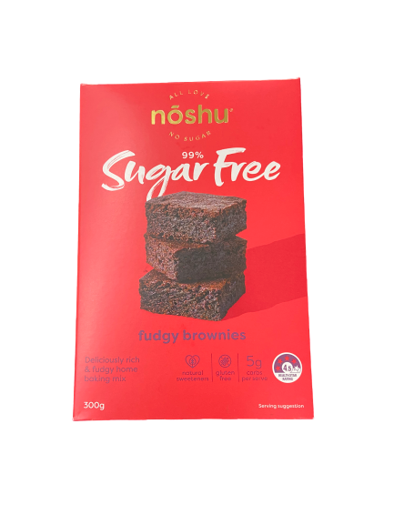 NOSHU - SUGAR FREE FUDGY BROWNIES