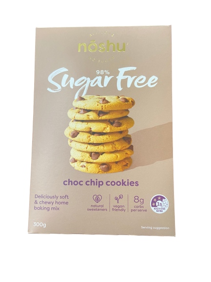 NOSHU - SUGAR FREE CHOC CHIP COOKIES