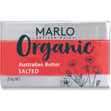 MARLO - ORGANIC SALTED BUTTER BLOCK 250G