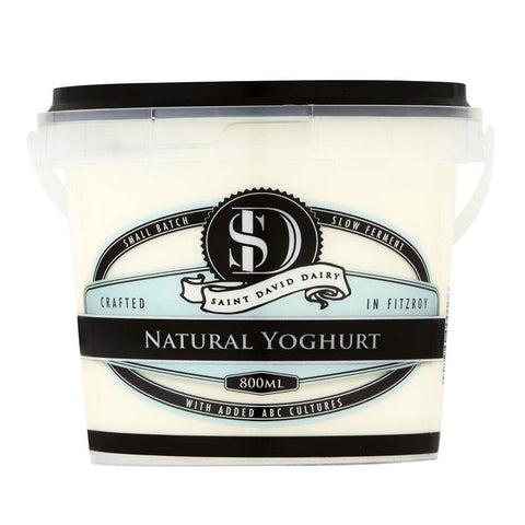 ST DAVID'S DAIRY - NATURAL YOGHURT 800ML