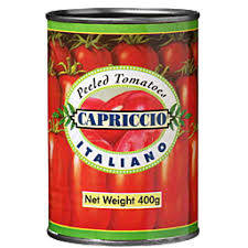 WHOLE PEELED CANNED TOMATOES