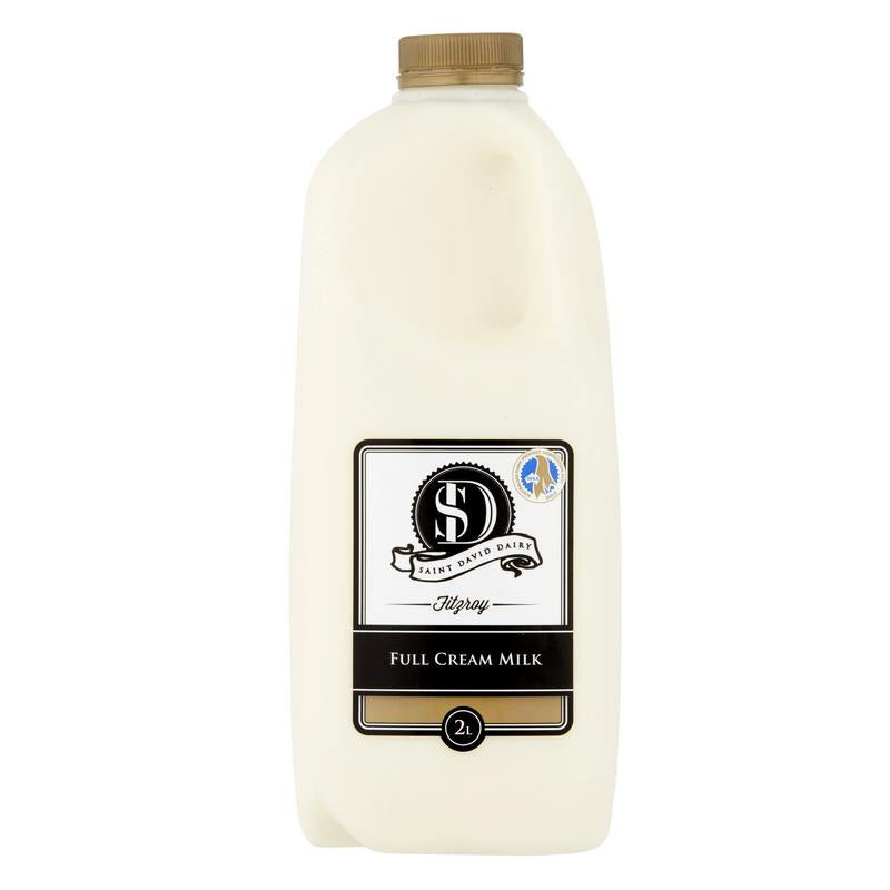 ST DAVID'S DAIRY - FULL CREAM MILK 2L