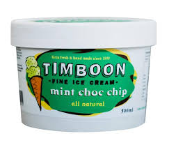 TIMBOON - MINT CHOC CHIP ICE CREAM 500ML