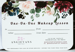 One-On-One Makeup Lesson with Angie Evans