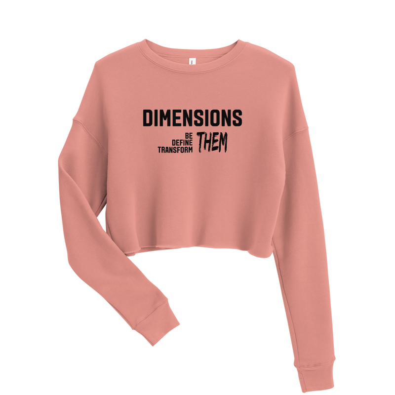 Dimensions Defined Crop Sweatshirt