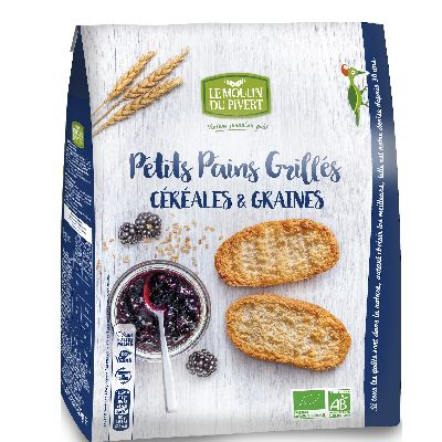 Petits Pains Grilles Cereales 225g Pivert