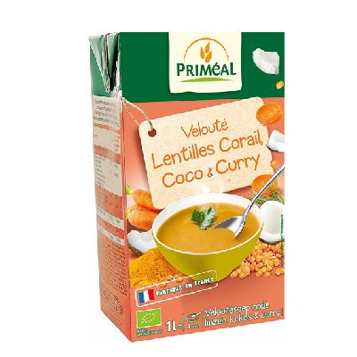 Veloute Lentilles Corail Coco Curry