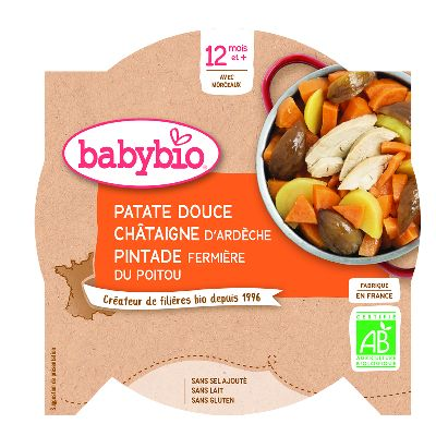 Assiette Patate Douce Chat.Pintade  230g Bab