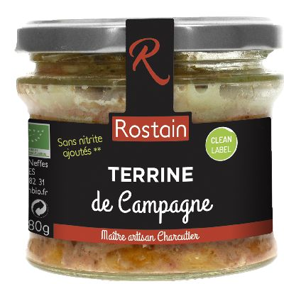 Terrine Campagne 180g Rostain.
