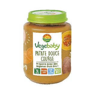 Vegebaby Pot Patate Douce Courge 190 G