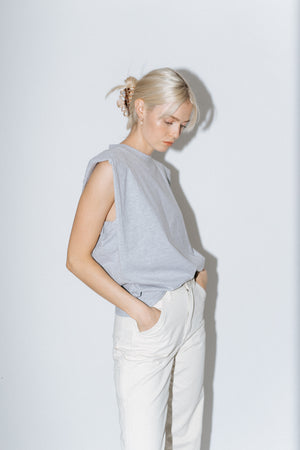The Leandra Top in Gray
