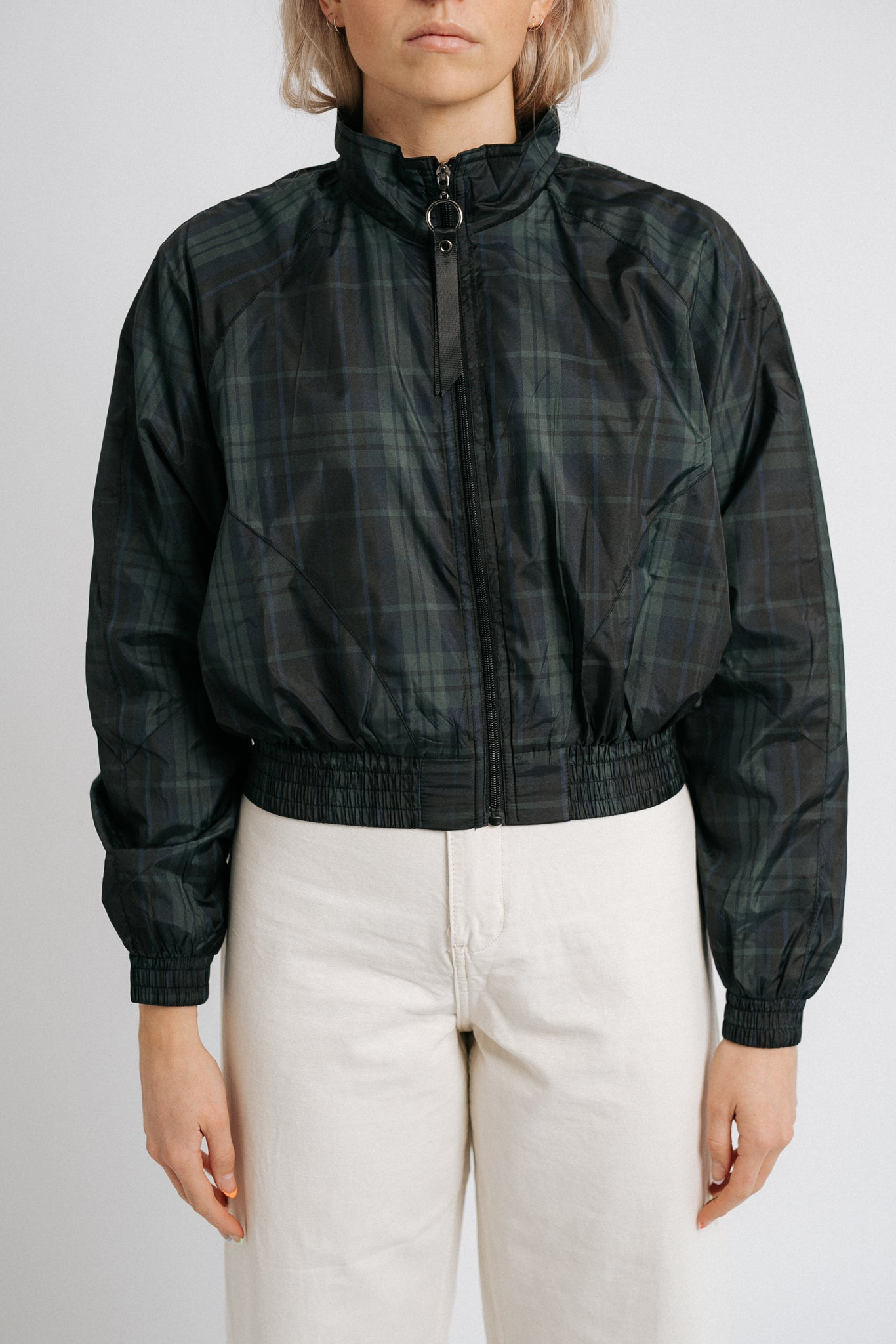 The Plaid You're Here Rain Jacket