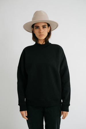 The Ava Sweatshirt in Black