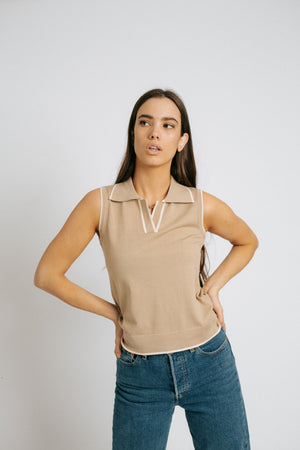The Chateau Taupe Top