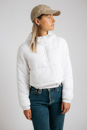 Denver Puffer in White
