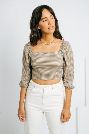 The Addison Gingham Top