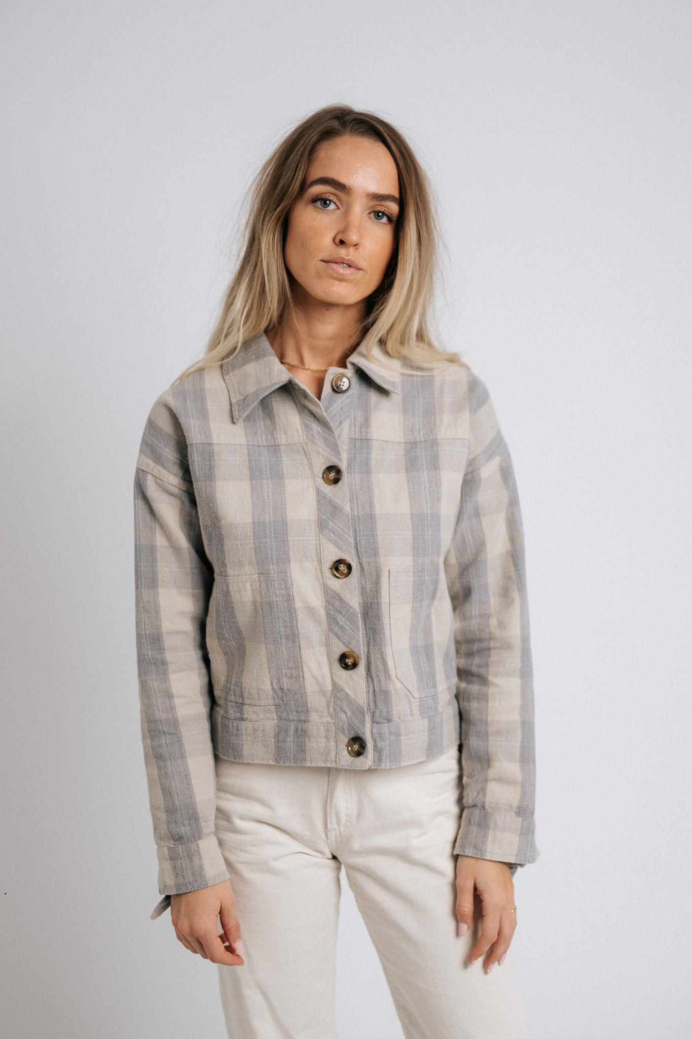 The Sage Plaid Jacket