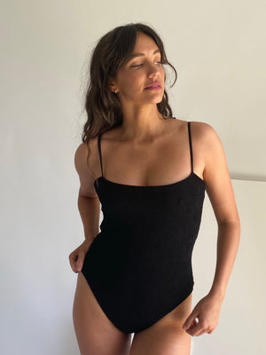 The Blake One Piece in Black