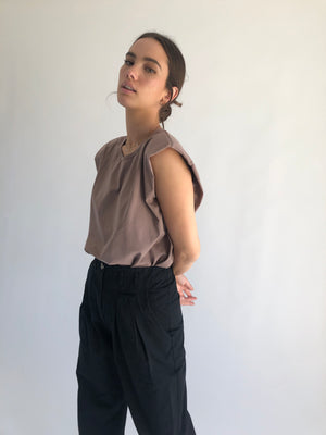 The Leandra Top in Tan