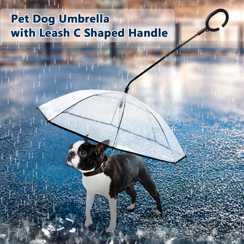 C shaped Telescopic Handle Transparent Visible Pet