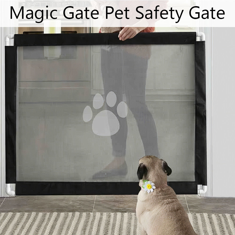 Pet Dog Fence Gate Magic Gate Safety Dog Gate