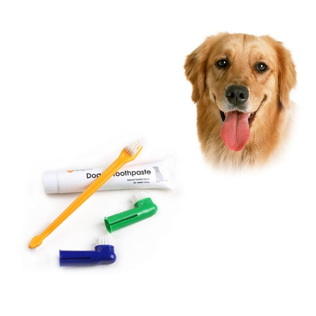Design Pet Dog Puppy Cat Toothbrush Teethpaste