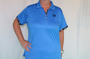 Bermuda Sands Blue Shirt with Argyle Detail