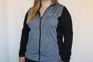 Bermuda Sands Full Zip Jacket in Black/Heather