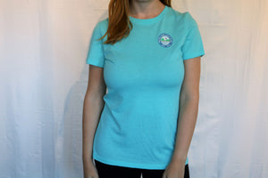 Imperial White Lake Golf Course Tee in pink or turquoise