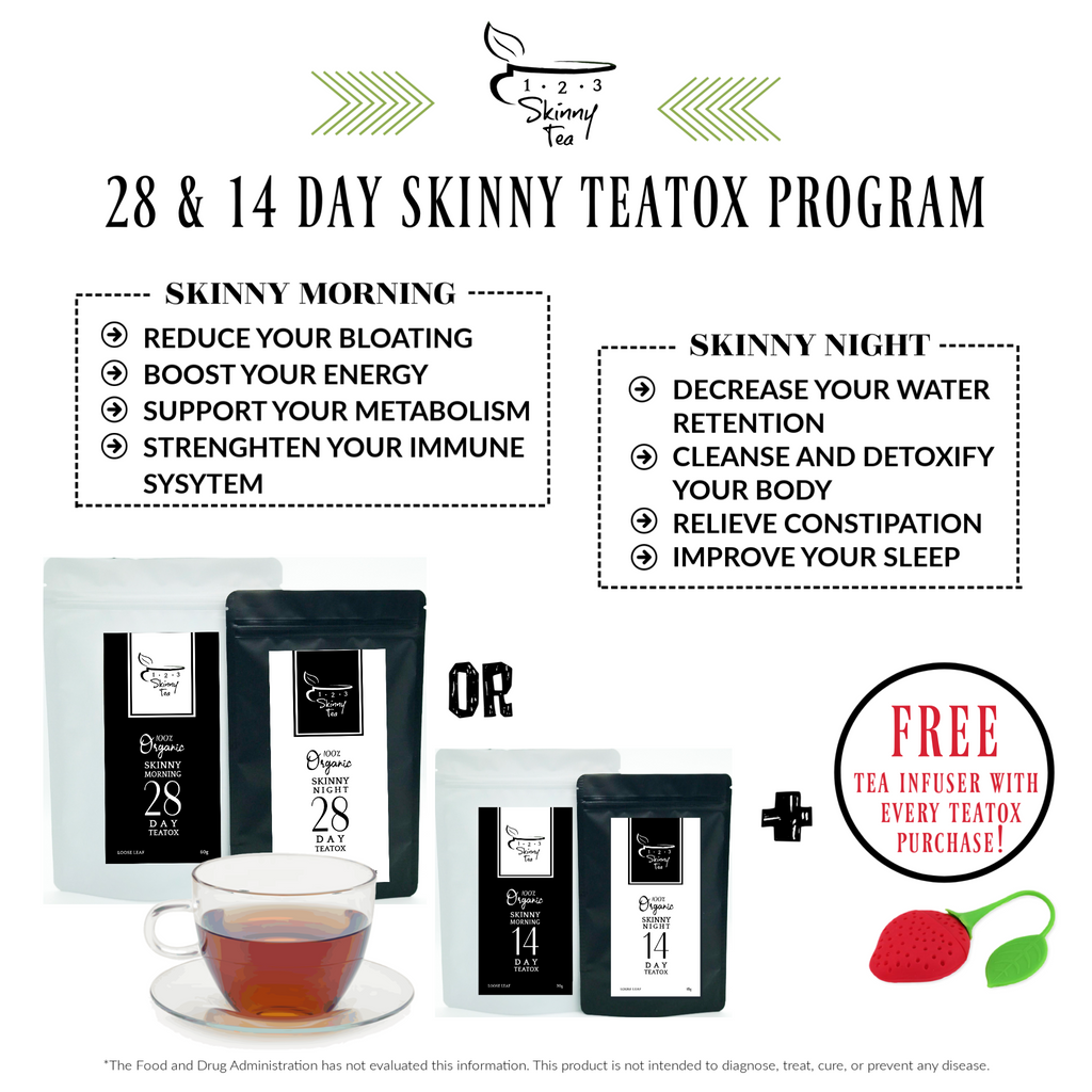 28 Day Organic Teatox Program + FREE Infuser + FREE Detox Calendar + FREE 15 Day OM Tea