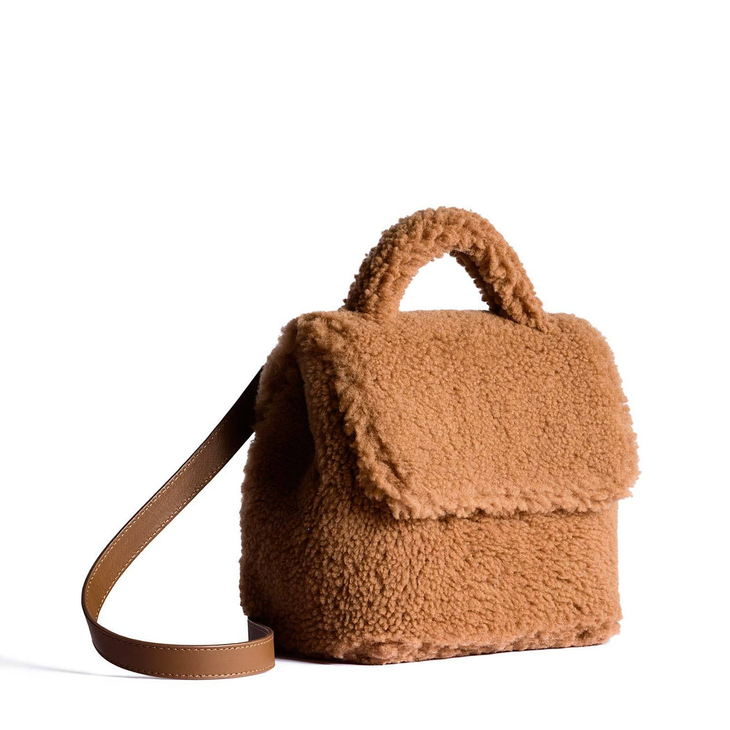 Micro Convertible Bag - Shearling - Teddy Bear