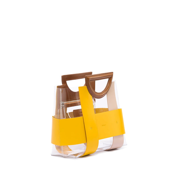 Small Chequer Tote - Yellow