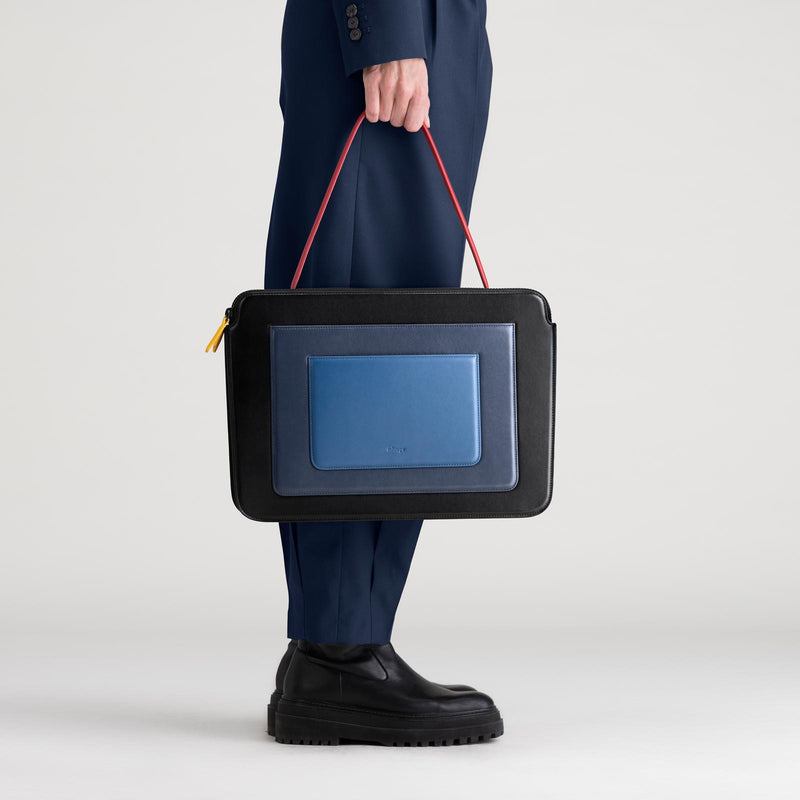 Business Bag - Black & Blue