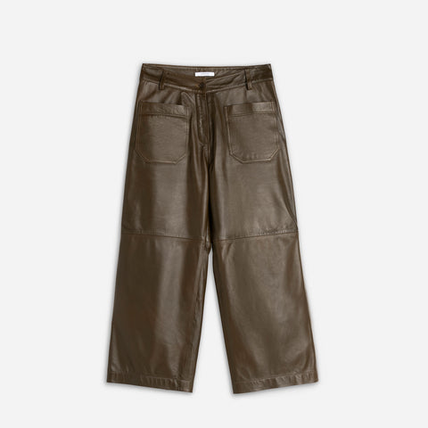 Gen Crop Pants - Olive