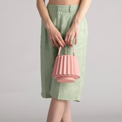 Mini Lantern Bag Pleated - Seashell Pink