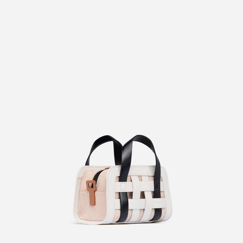 Mini Woven Bag - Off White